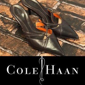 Cole Haan Brown Crocodile Print Heels